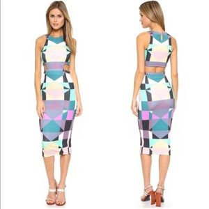 Mara Hoffman Cut Out Midi Dress in Diamond Plum
